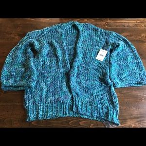 Free People cozy bell sleeve sweater nwt size sm